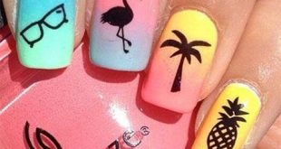 15+ Simple & Easy Summer Nails Art Design & Ideas 2017 - Nail Design