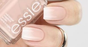 Baby boomer nail art: soft ombre French #gradient nails # manicure with essie