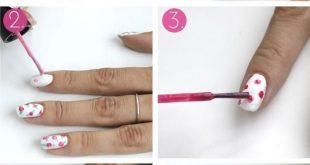 nail design spring roses draw instruction