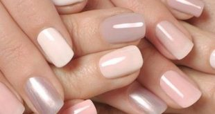 beautiful subtle nails, clay in tone, pink lilac pastel