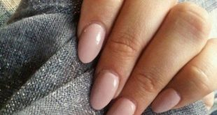 My favorite nail shape at the moment. simple nail design tender pink old rose, ...