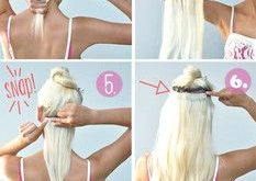 Do your own hair extension with Clip In Extensions instructions