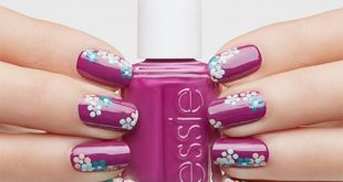 Floral patterns are one of the trendy trends on the catwalks. As Nail Des ...