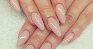 Idk why, but I'm in love with naked almond-shaped nails! I wish I had the money ... ...