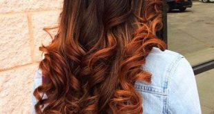 Ombre Copper Brown Balayage Warm Trendy Rich Red Pink