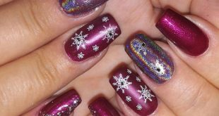 Winter Nail Art with Snowflakes Winter & Christmas Purple - My Own ...