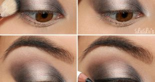 smokey eyes makeup gray instructions step by step #beauty #makeup
