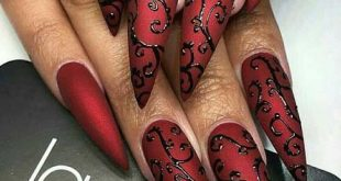 10 different nail design ideas for very long nails #design # ideas #long nails ...