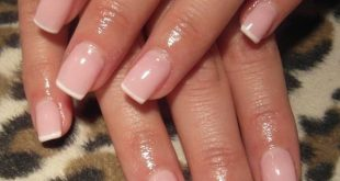 French manicure with pink and super thin white lace. Love. (Super thin hair) #Fr ...
