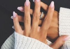 Light pink to white ombre