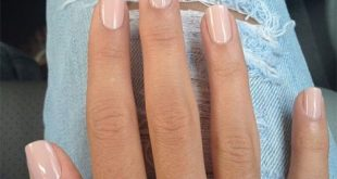 Manicure with neutral nails