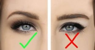 Many blindfolded people believe they can not wear a winged eyeliner, but ...