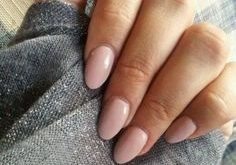 My favorite nail shape at the moment. simple nail design delicate pink old rose, ....
