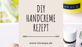 Naturkosmetik hand cream DIY from only 3 ingredients - Here I show you how to make a ...