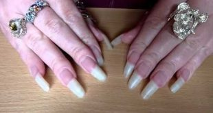 New nail video 2013! No Polish on real long naked clear course ...