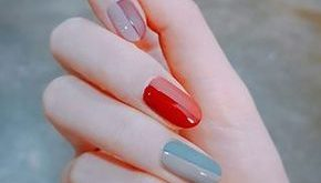 Piano-inspired nails are given a more daring color palette to create a f ...