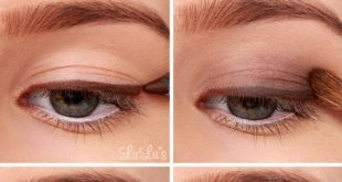 make-up, makeup for blue eyes, eyeshadows in gold and brown, smokey ...