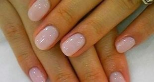 nude nail polish is in the trend