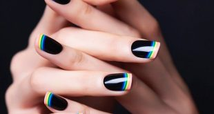 15 Original ways to make a nail design in the French style #estil ...