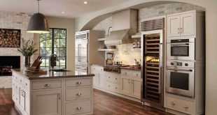 Contemporary kitchen with hanging light