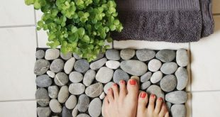 DIY instructions: doormat made of stones, bath mat, bath towel / diy ...