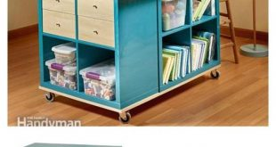 Ideas for storage and organization of furniture for the craft room 2