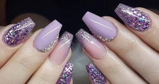 Incredible beautiful nail design ideas: nail art in winter, nail design in acrylic ...