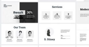 Minimal Clean Business Presentation PowerPoint Template #PowerPoint #Business #C ...