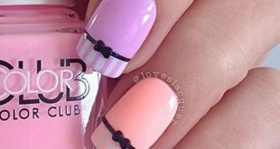 More than 80 beautiful colorful nail design ideas for spring nails 2018 #Nage ...