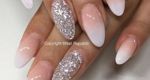 Nails French glitter