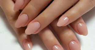 Natural short manicure, cute functional nails
