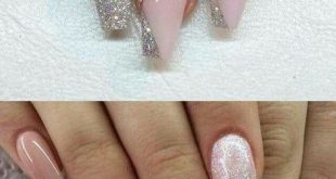 Pink and Glitter #AcrylicNailsGlitter