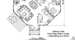 Plan the house online: 1500 square feet, 3 bedrooms, 2 bathrooms, yard collection (PT-0621) ...