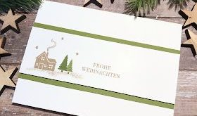 Stamp light: BlogHop PaStello - clean and simple - Christmas card