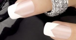 Vintage Chevron French Manicure Design I like it, but I have a finer white ...