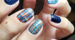 , Check the pattern with strong color effect , The color play, which is unique for short nails, is sober , , , , .......... ■ Reservation