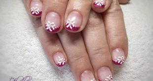 This time colored French in fuchsia with flourish flowers , , ,