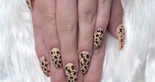 Leopard Print Baddie nails for   a simple yet so bomb print. I did a fill on he