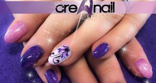 Purple rose glitter with painted flowers