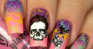 Reposted from  -  Skull mani?! Yesss I used  Feel the breeze, Gothic lolita, Flo