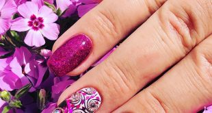 Right Hand Ink-Color, Stampi, Cateye Gel, Glitter and lots of Glitterstones
