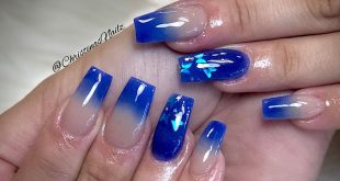 Blue Ombré....this one was a challenge for me  . . . .         ChicsHairandNails