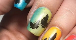 Butterflies on a rainbow gradient for today's   Originally the idea was to have