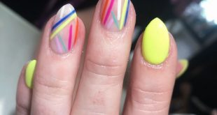 Inspired by: I can't remember.  These nails were so fun & BRIGHT! I'm digging th