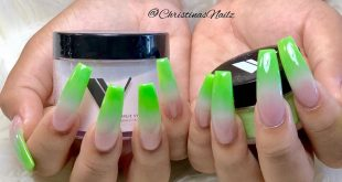 It's that green apple Ombre  . . . .         ChicsHairandNails  559-374-5550 Cal