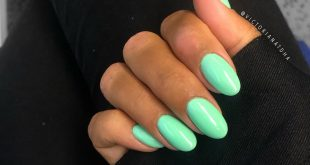 """Me and my mini nails  ————————————————————————— The color is """"Pastells Green 266"""