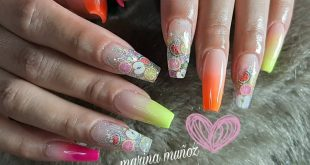 Nails Fruits Thanks for your preference   agenda with time at 61311