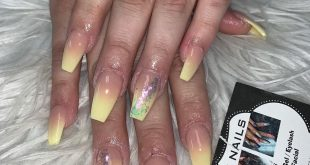 Pastel yellow ombré . Appointments required and booked by DMing us ladies
