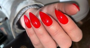Such a beautiful red bull rider by                   nails