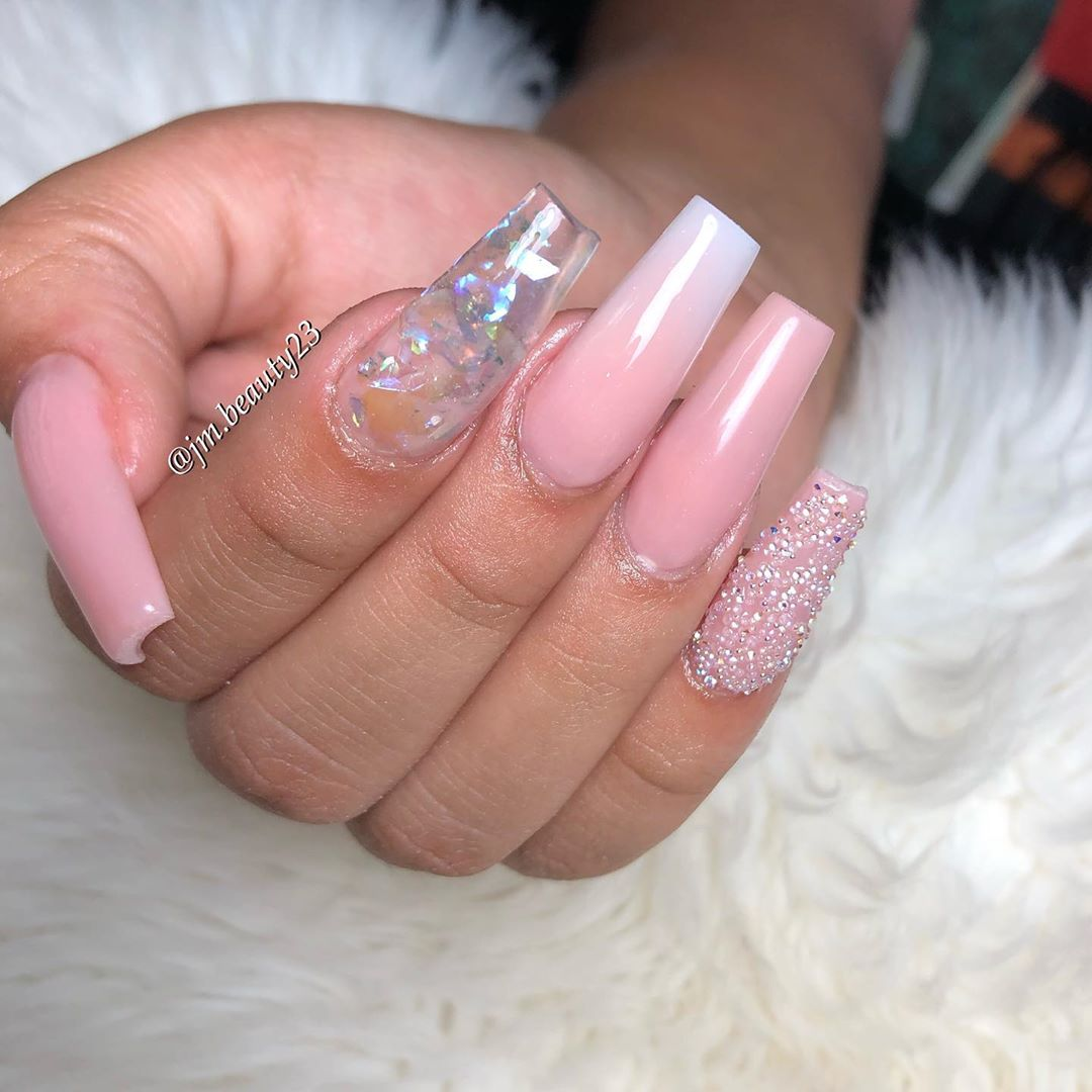 graduation nails • • • Glamorous nude, soft touch & gel top coat ...
